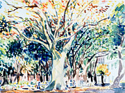Washington Square Paintings - Washington Square Fall by Mark Lunde