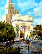 Washington Square Paintings - Washington Square by Mark Hartung