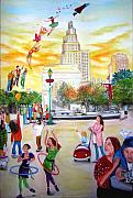 Washington Square Paintings - Washington Square Park by Limor Nesher