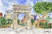 Greenwich Village Paintings - Washington Square Park by Lynn Lieberman