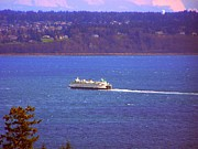 Kingston Prints - Washington State Ferry Print by Vicki Maheu