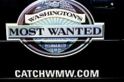 Crime Fighting Prints - Washingtons Most Wanted Print by Roger Reeves  and Terrie Heslop