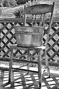Washtub Prints - Washtub on Antique Chair Print by Thomas R Fletcher