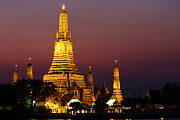 Asian Culture Prints - Wat Arun Temple of Dawn in Bangkok Print by Fototrav Print