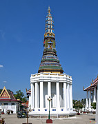 Thon Framed Prints - Wat Intharam Phra Prang West DTHB905 Framed Print by Gerry Gantt