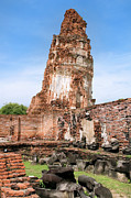 Wat Photos - Wat Mahathat Temple in Ayutthaya by Artur Bogacki
