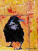 Raven Mixed Media Prints - Watch and Learn Print by Pat Saunders-White