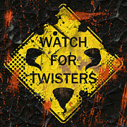 Twister Prints - Watch For Twisters Print by David G Paul