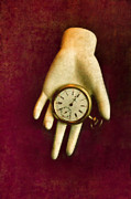Clock Hands Framed Prints - Watch in Hand Framed Print by Jill Battaglia