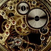 Watch Mechanism. Close-up Print by Bernard Jaubert