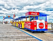Tram Photo Posters - Watch the Tram Car Please Poster by Nick Zelinsky