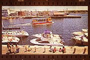 Boats At Dock Prints - Watching Boats on the Port Print by Beverly Claire Kaiya