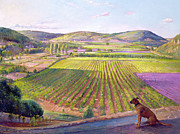 Dog Prints - Watching from the Walls Old Provence Print by Timothy  Easton