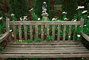 The Garden Bench Prints - Watching over the Bench Print by John Rizzuto