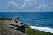 Castillo San Cristobal Posters - Watching Over the Water Poster by Wendy M Hansen-Penman