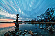 Time Stack Prints - Watching the Clouds Pass Print by Matt Molloy