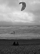 Adrian Hillyard - Watching the Kite Surfer.