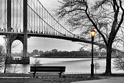 Park Benches Photos - Watching the Nightfall  by JC Findley