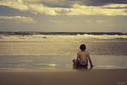 Child Photos - Watching the Waves by Linda Lees