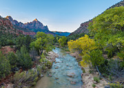 Tramping Prints - Watchman - Zion National Park - UT Print by Steve Lagreca