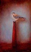 Watchtower - American Kestrel  Print by Lori  McNee