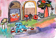Bowls Paintings - Water Bowls Really? by Niya Christine