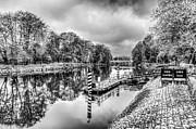 Steve Purnell - Water Bus Stop Bute Park Cardiff Mono