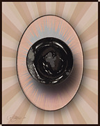 Pater Posters - Water Closet A Rose of a Dif Color dafoi Art 2 of 3 Poster by Ruth  Benoit