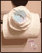 Pater Posters - Water Closet A Rose of a Dif Color dafoi Art 3 of 3 Poster by Ruth  Benoit