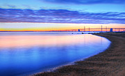 Sandy Point Park Prints - Water Colors Print by JC Findley