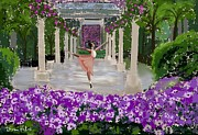 Ballet Dancers Prints - Water Dancer at Longwood  Gardens  Print by Diana Riukas