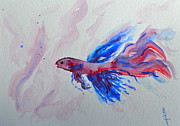 Wash Painting Originals - Water Dancer by Beverley Harper Tinsley