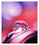 Vibrant Drawings - Water Drop by Natasha Denger