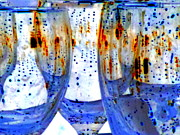 Goblet Digital Art Framed Prints - Water Glasses 3 Framed Print by Randall Weidner
