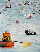Ironman Competition Prints - Water Hazard Print by Tanya Petruk