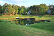 Golf Photos Prints - Water Hole Golf Print by Reid Callaway
