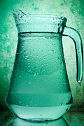 Water Jug Art - Water In A Glass Pitcher  by G J