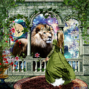Lion Of Judah Posters - Water into wine Poster by Dolores DeVelde