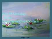 Desert Drawings Prints - Water Lilies Print Print by Eric  Schiabor