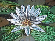 Lilies Tapestries - Textiles - Water Lily 2 by Lukandwa Dominic
