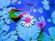 Water Lily I Print by Ann Johndro-Collins