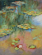 Lilly Pond Painting Framed Prints - Water Lily Framed Print by Michael Creese