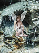 Fairy Art For Sale Framed Prints - Water Nymph Framed Print by Andrew Govan Dantzler