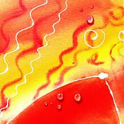 Water On Color Design One Print by Irina Sztukowski