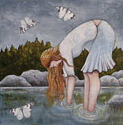 Prayer Painting Originals - Water Prayer by Sheri Howe
