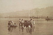 Bathing Photo Prints - Water Rats Print by Frank Meadow Sutcliffe