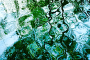 Turquoise Jade Prints - Water Ripples and Reflections Abstract Print by Natalie Kinnear