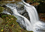 Glen Creek Prints - Water Rushes Forth Print by Robert Harmon