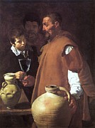 Seville Painting Prints - Water Seller of Seville Print by Pg Reproductions