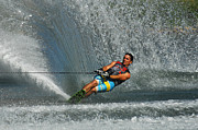 Water Skiing Magic Of Water 14 Print by Bob Christopher